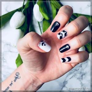 Рисунки на белых ногтях, белые рисунки, 100 фото идей новинки 2021
