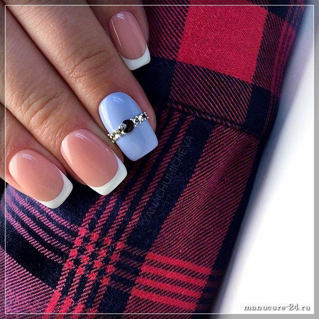 Френч на ногтях гель-лаком: особенности создания дизайна пластины
