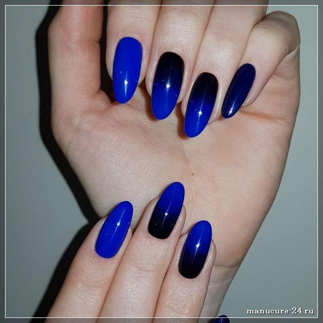 Как сделать удачный маникюр к синему платью?