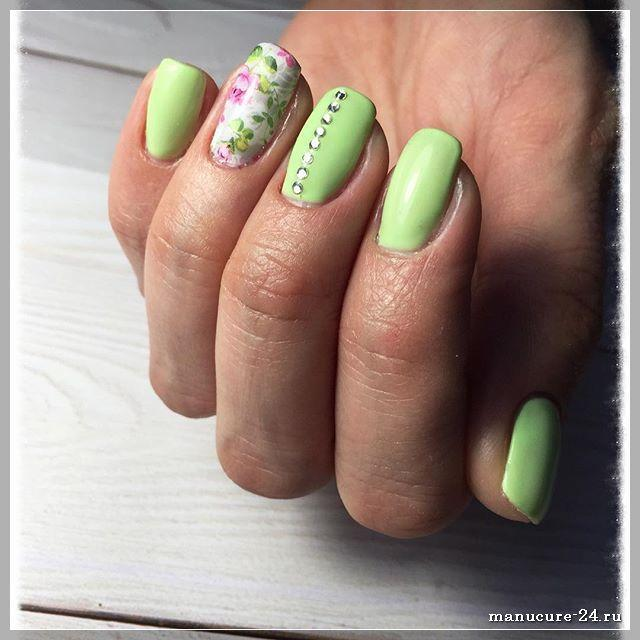 Маникюр в зеленом цвете: как сделать все красиво?
