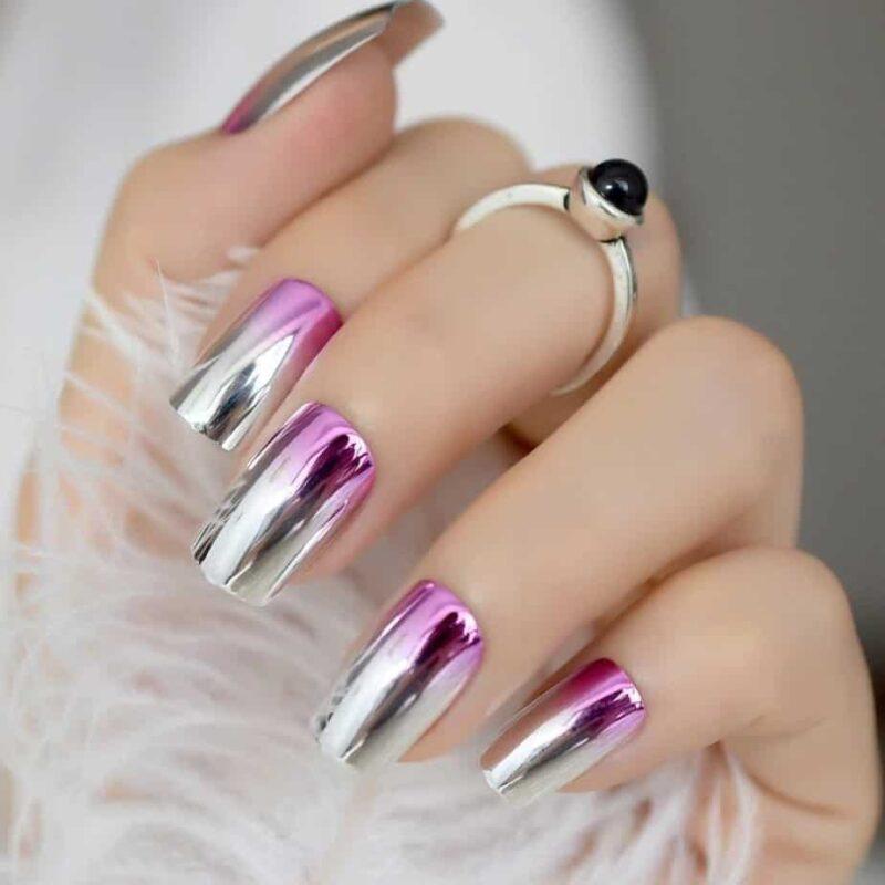 Модные розовые ногти 2021 - 24 новых тенденции